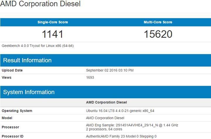 32 çekirdekli AMD Zen sunucu işlemcisi sızdırıldı