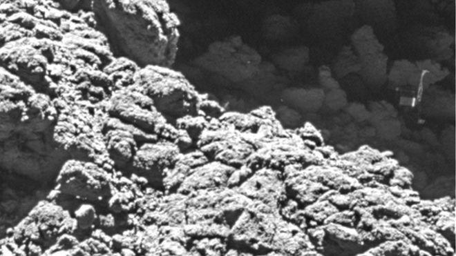 Philae bulundu! Kuyruklu yıldızda kaybolan uzay aracı işte böyle görüntülendi