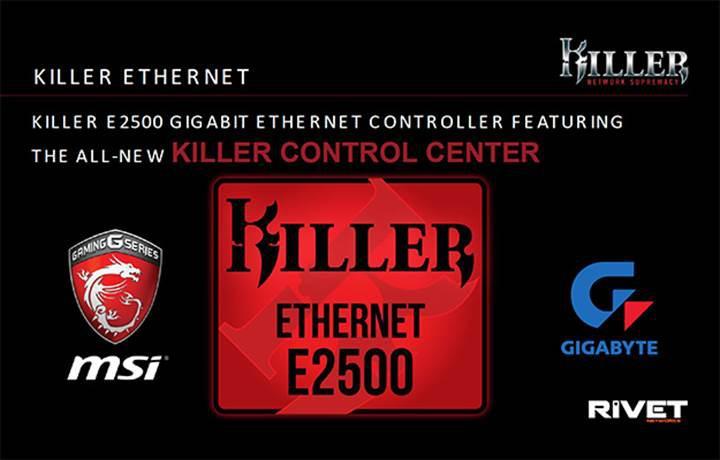 Killer E2500 Gigabit Ethernet kontrolcüsü duyuruldu