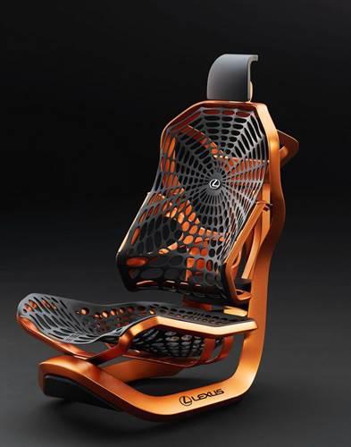 Lexus'dan oyuncu koltuğuna benzeyen geleceğin araç koltuğu