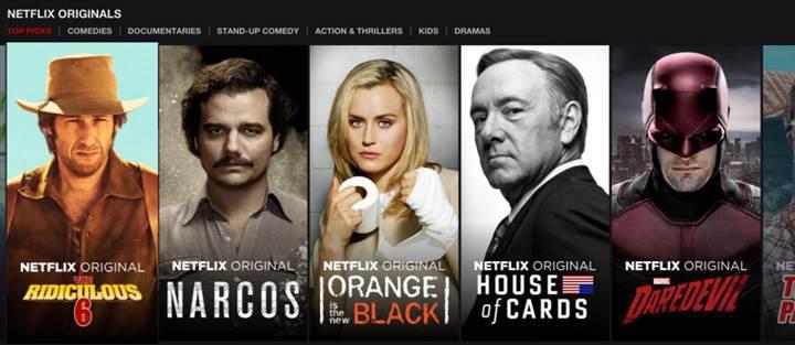 Netflix içeriklerinin yarısını orijinal dizi ve filmler oluşturacak
