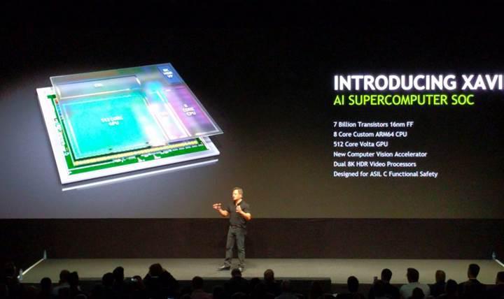 Nvidia'nın yeni nesil otomobil ve yapay zeka platformu: Xavier SoC