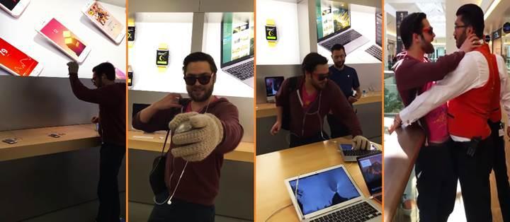 Apple'a sinirlenen adam mağazadaki iPhone ve Macbook'ları parçaladı