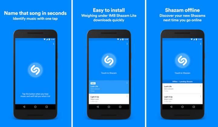 Sadece 1 MB boyutunda, daha az veri kullanan 'Shazam Lite' yayınlandı