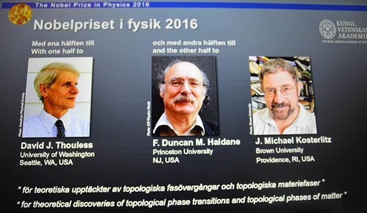 2016 Nobel Fizik Ödülü ve Nobel Tıp Ödülü sahiplerini buldu