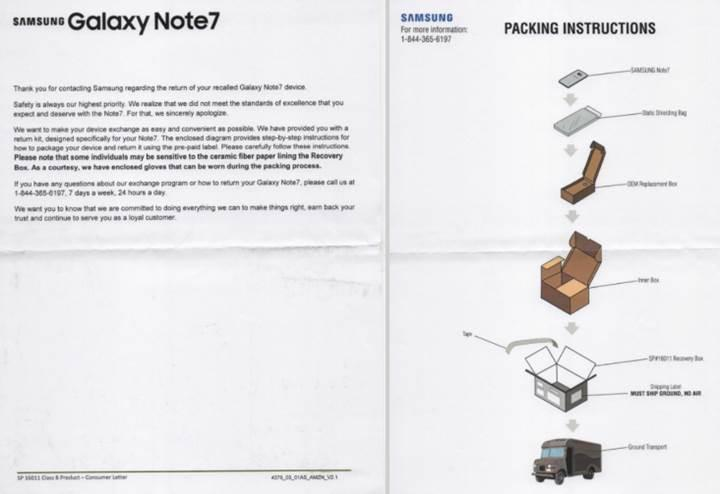 Samsung Galaxy Note 7 bu özel kutularda taşınacak