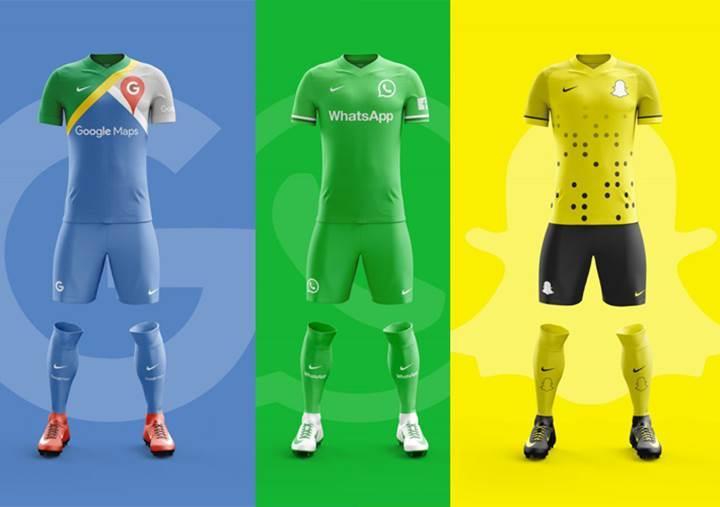 Popüler mobil uygulamalar futbol takımı olsaydı nasıl görünürdü?