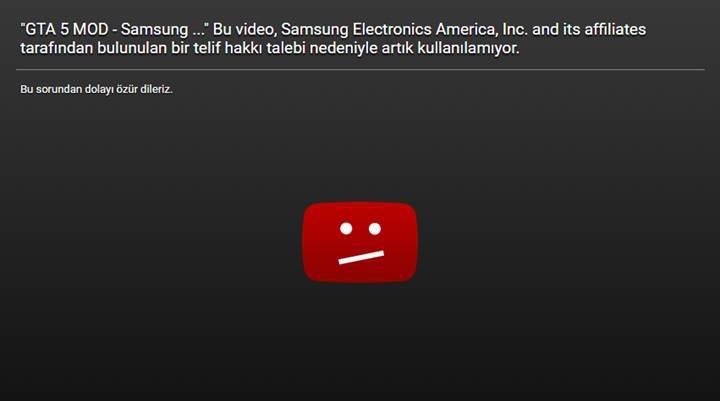 Samsung, GTA V'teki patlayan Galaxy Note 7 moduna savaş açtı