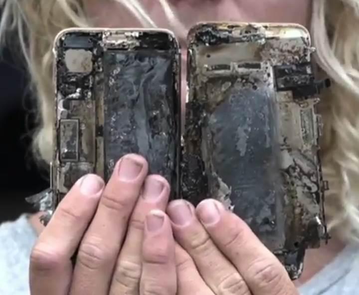 Patlayan iPhone 7, arabanın içini küle çevirdi
