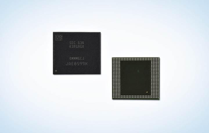 Samsung, sektörün ilk 8GB LPDDR4 RAM belleğini sunar