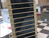 Solar panellere sahip perde projesi.