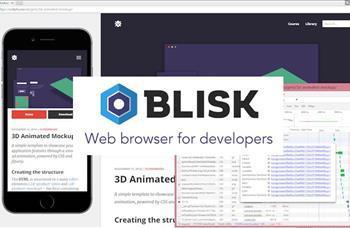 Blisk, özellikle web geliştiricilerine yönelik olarak geliştirilmiş, Chromium tabanlı bir internet tarayıcısı. Şimdilik beta versiyonu Windows ve Mac için yayınlanan Blisk, çeşitli telefon ve tabletlere uygun çözünürlük seçenekleri ile geliyor ve bu sayede web geliştiriclerinin internet sitelerini farklı platformlarda test etmelerine olanak sağlıyor.