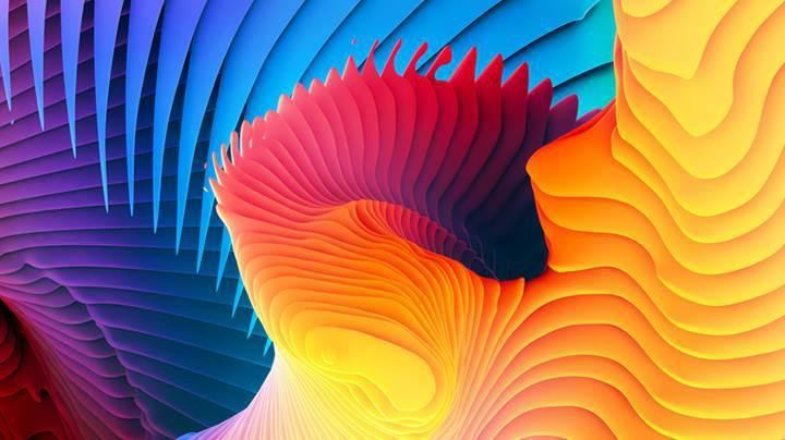 Yeni MacBook Pro'nun rengarenk duvar kağıtlarını indirin