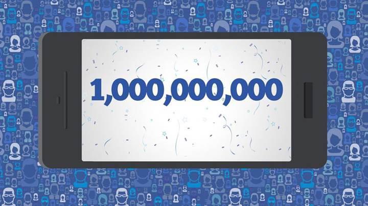 Facebook mobilde günlük olarak bir milyarı geçti