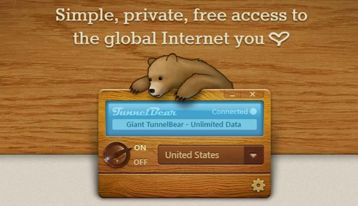TunnelBear, Türkiye'deki kullanıcılara sınırsız VPN hizmeti vermeye başladı