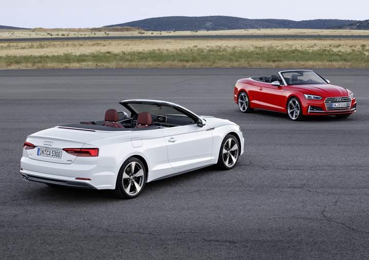 Audi A5'in üstü açık versiyonu resmiyete kavuştu