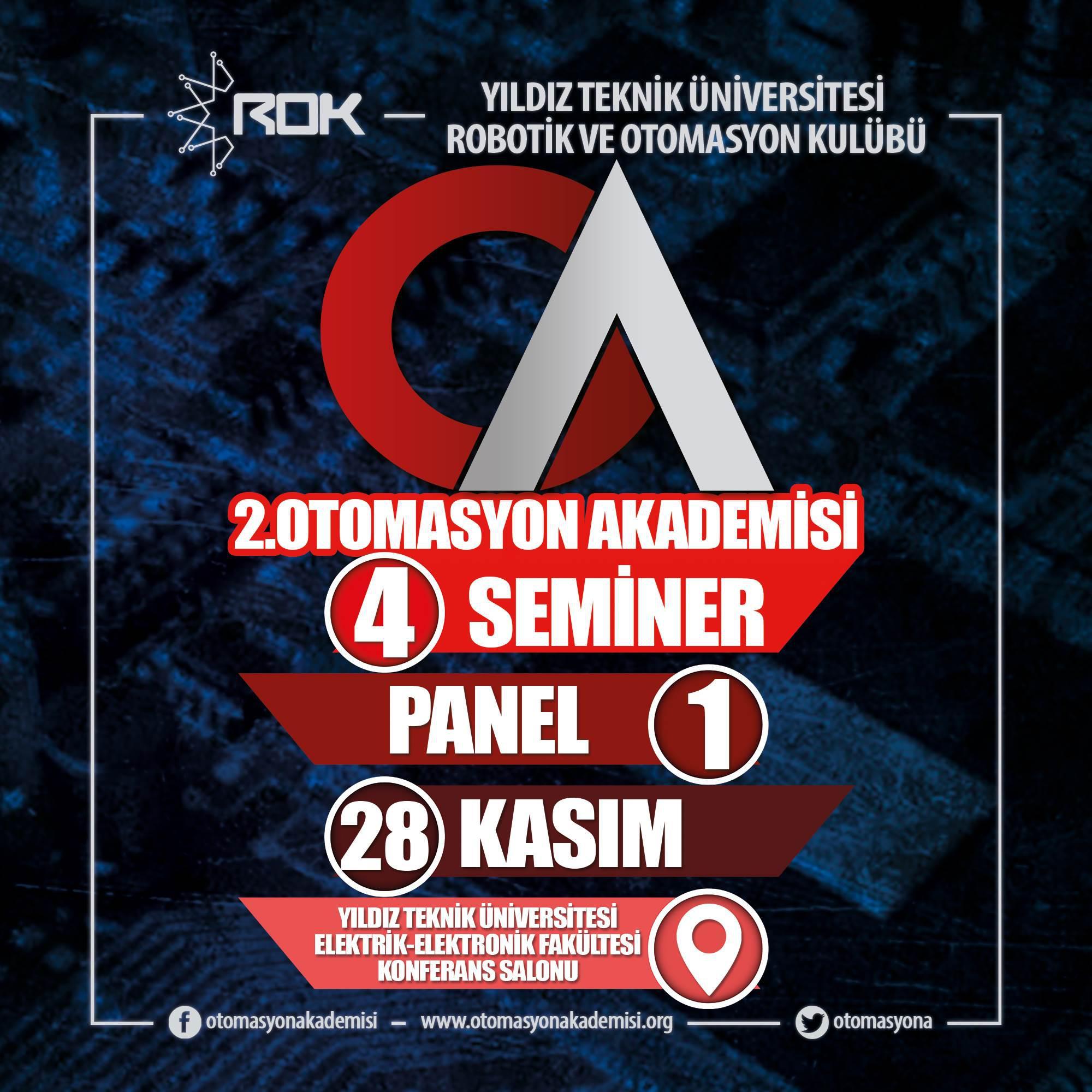 2. Otomasyon Akademisi 28 Kasım tarihinde Yıldız Teknik Üniversitesi'nde