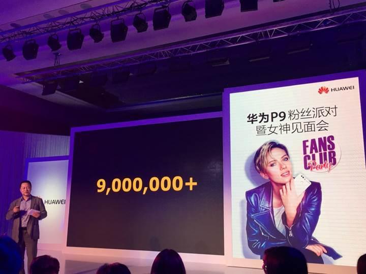 Huawei P9 modeli 9 milyon sattı