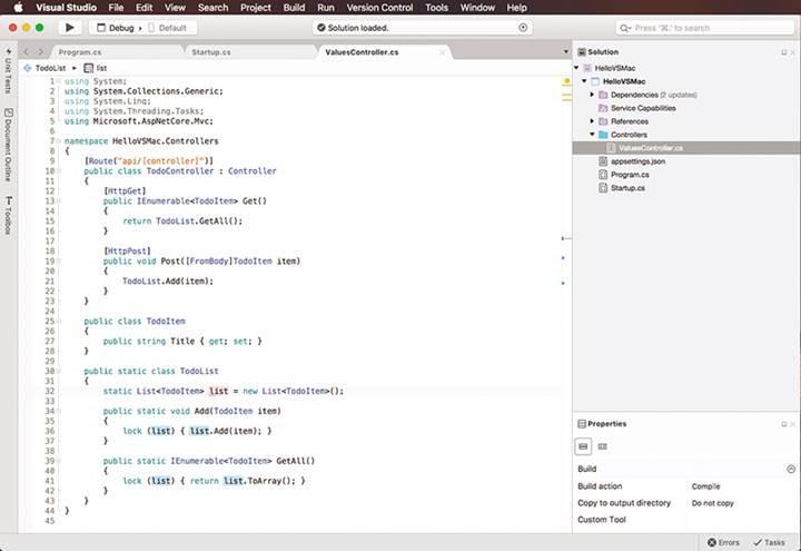 Visual Studio platformu Mac'e geliyor