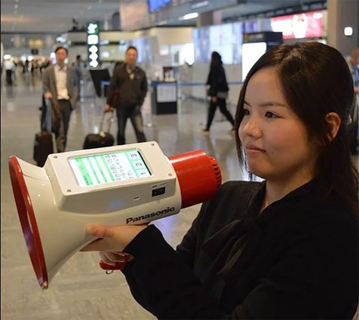 Panasonic'ten ilginç icat: Tercüman Megafon