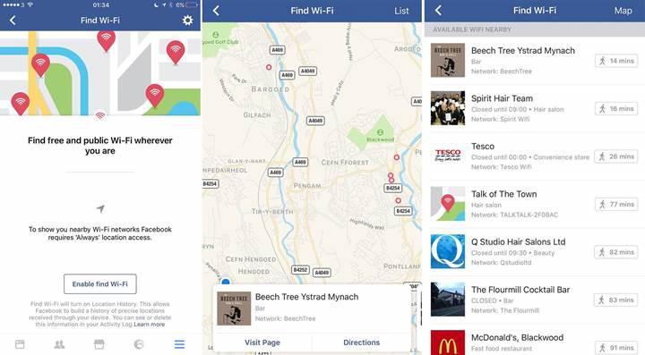 Facebook artık çevrenizdeki erişime açık Wi-Fi ağlarını da gösterecek