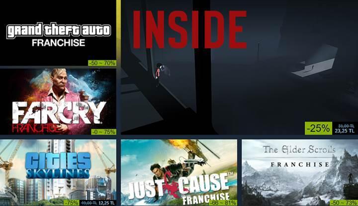 Steam'in popüler oyunları da kapsayan sonbahar indirimleri başladı