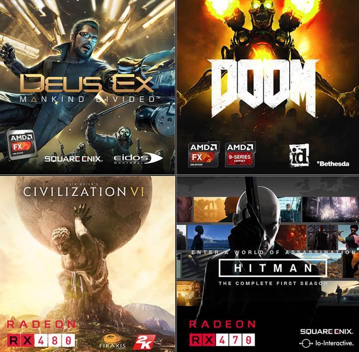 AMD'den 4 oyun hediyeli özel kampanya
