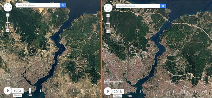 Türkiye coğrafyasının 32 yıllık değişimine Google Earth ile tanık olun