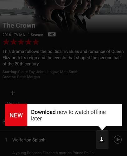 Netflix'e çevrim dışı izleme özelliği nihayet geldi