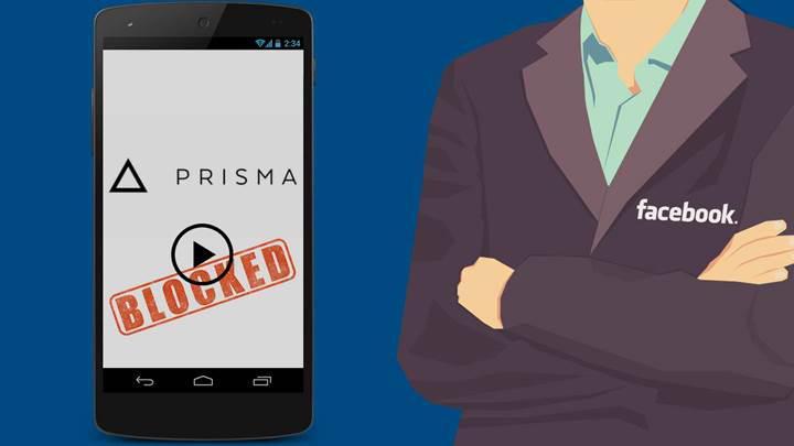 Facebook, Prisma'nın canlı video filtrelerini engelledi