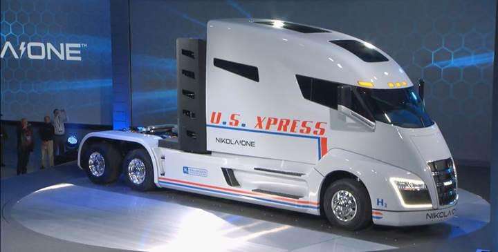 Bu dev kamyon hidrojenle çalışıyor ve bir depoyla 2000km gidiyor