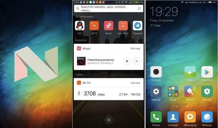 Android 7.0 sürümü Xiaomi ailesinde ilk kez Mi 5 modeline geliyor
