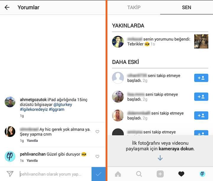 Instagram'a yorum beğenme ve yanıtlama özellikleri geldi