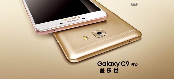 6 GB RAM ve 6 inç ekranlı Samsung Galaxy C9 Pro küresel pazara geliyor