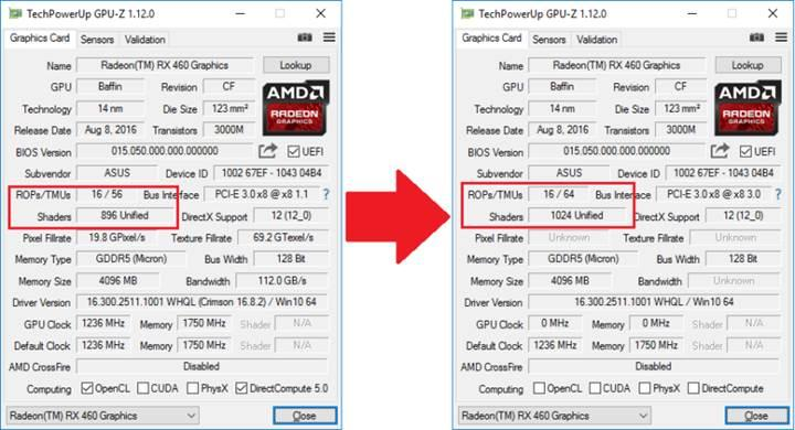 AMD Radeon RX460'a %12.5 Performans Artışı
