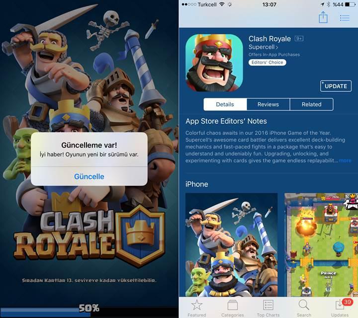 Clash Royale oyunun yeni güncellemesi klan sandıkları getiriyor