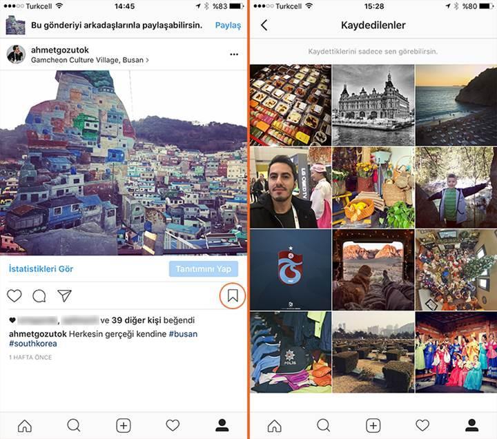 Instagram'daki paylaşımları artık tek tıkla kaydedebileceksiniz