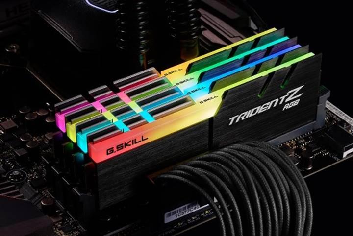 G.Skill'den RGB ışıklandırmalı DDR4 bellek kitleri