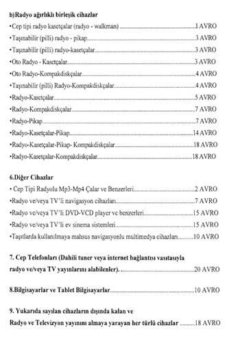 Telefon, bilgisayar ve televizyonlara 2017 vergisi