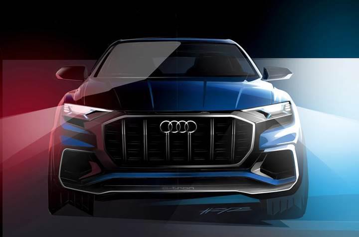 Audi, Q8 konseptinin yeni bir görselini yayınladı