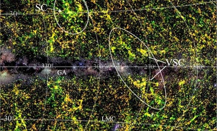 Dünya'ya çok da uzak olmayan devasa bir galaksi kümesi bulundu