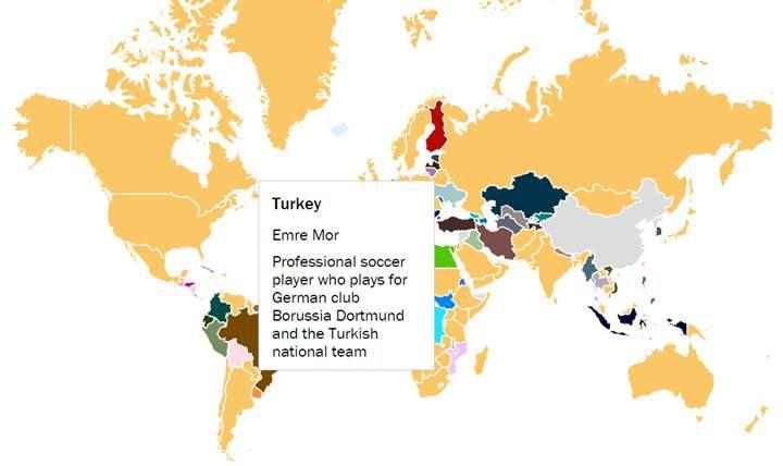 2016 yılında Google üzerinde hangi ülke en çok kimi aradı?