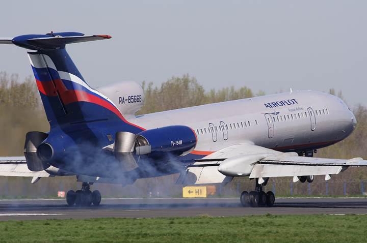 Rusların uçan tabut lakaplı uçağı: Tupolev TU-154 yine düştü!