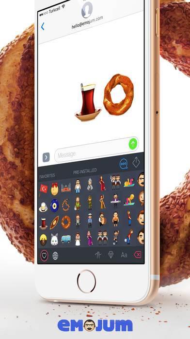 Simitli, tesbihli, sünnet çocuklu yerel emoji klavyesi
