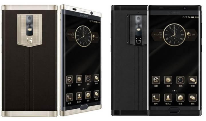 Gionee M2017: Kavisli ekran,çift kamera ve 7000mAh kapasiteli batarya