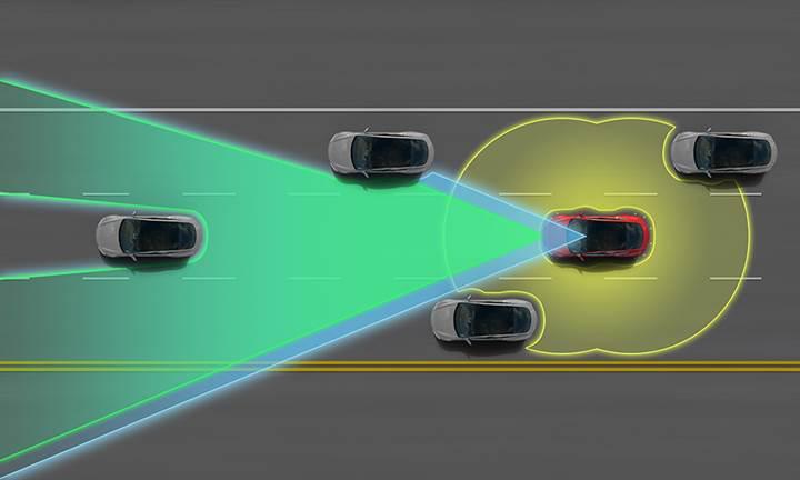 Tesla otoyolda gerçekleşen kazayı önceden tahmin ederek sürücünün hayatını kurtardı