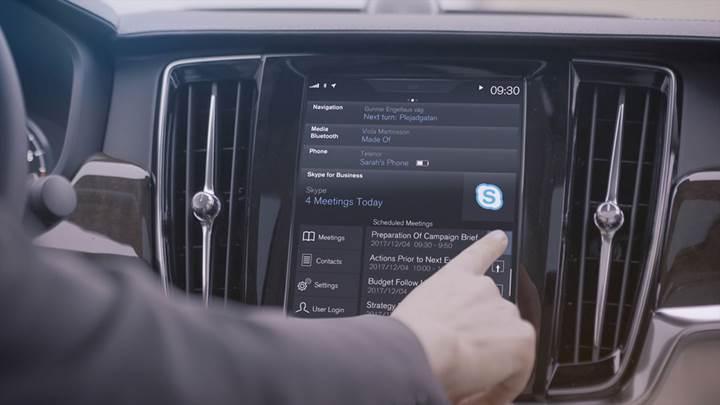 Volvo araçlarda Skype yüklü olacak, Cortana entegrasyonu ise yolda