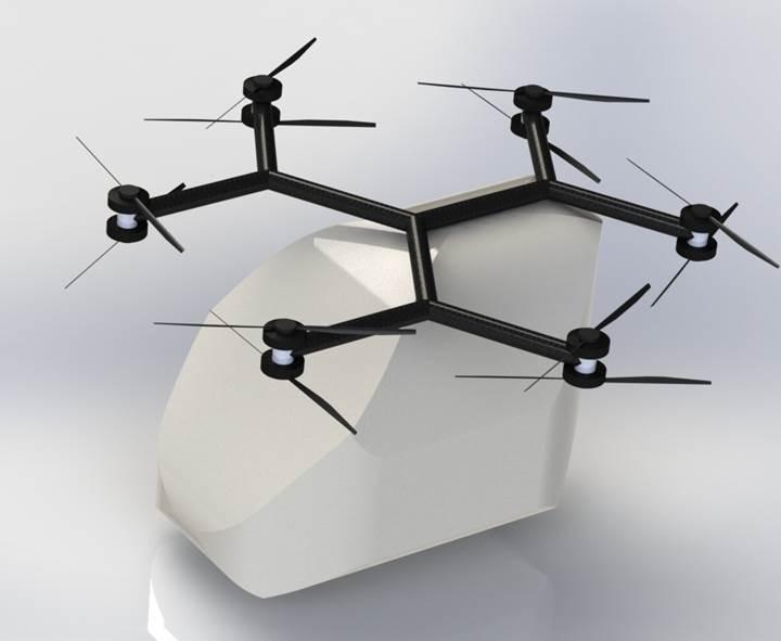 İnsan taşıyan drone kullanıma hazır