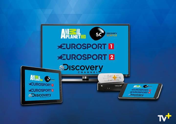 Discovery ve Eurosport kanalları artık Turkcell TV+'ta