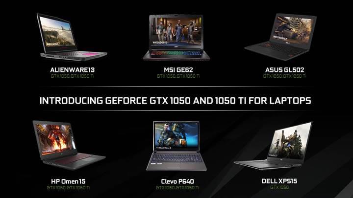 Nvidia GeForce GTX 1050 ve GTX 1050 Ti mobile geldi